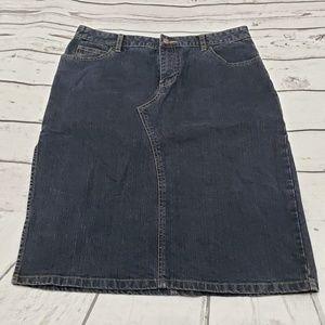 Old Navy Skirt Size 10 Stretch Womens Blue Denim